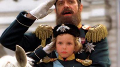 Nikita Mikhalkov playing Czar Alexander III in his 1998 movie The Barber of Siberia