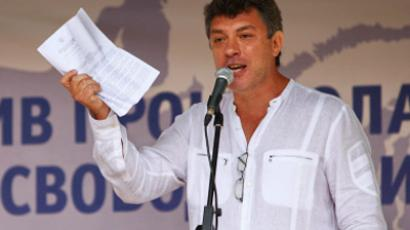 Opposition leader Nemtsov intimidated by $30 fine