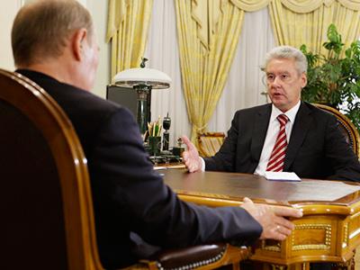 Vladimir Putin and Sergey Sobyanin (RIA Novosti / Alexey Druzhinin)