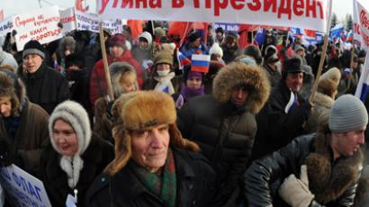 Participants of We Have Something To Lose rally on Poklonnaya Hill, Moscow. (RIA Novosti / Alexander Utkin)