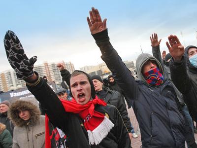"Nationalists at ""Russian March"" (RIA Novosti / Iliya Pitalev)"