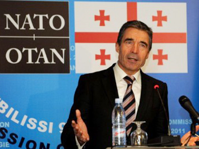 Push on or push off, NATO tells Georgia