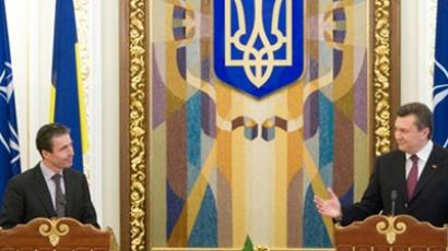 NATO Secretary General Anders Fogh Rasmussen and Ukrainian President Viktor Yanukovich (AFP Photo / Mikhailo Markiv)