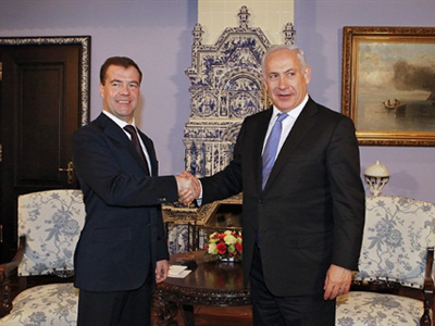 Netanyahu in Moscow as Medvedev continues Middle East peace drive