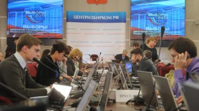 Russia's Central Election Commission at work (RIA Novosti/Grigory Sysoev)