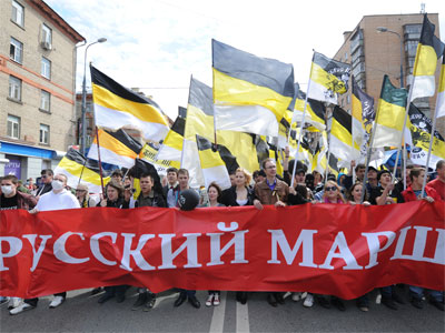Participants in the Civil March, a rally held by nationalists.(RIA Novosti / Iliya Pitalev)