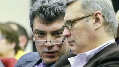 Co-chairmen of the PNS Boris Nemtsov and Mikhail Kasyanov (RIA Novosti / Vitaliy Belousov)