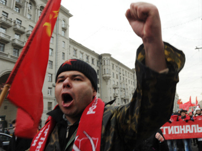 Opposition hears Soviet-era echoes in United Russia congress