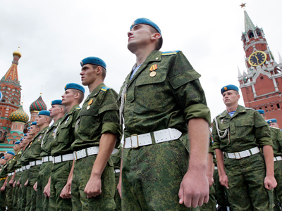 Russian Paratroopers' Union pledges loyalty to Putin, decries protests