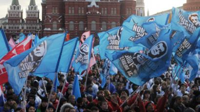 Putin supporters hold mass demonstration in Moscow