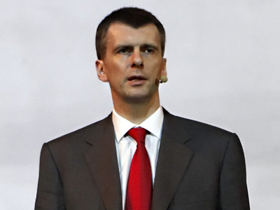 Prokhorov rejects media reshuffles before vote