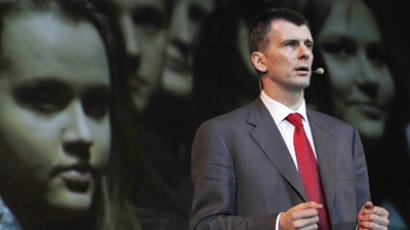 Prokhorov's 500 – billionaire announces new party plan