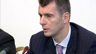 Mikhail Prokhorov shoots for Kremlin, but will he score?