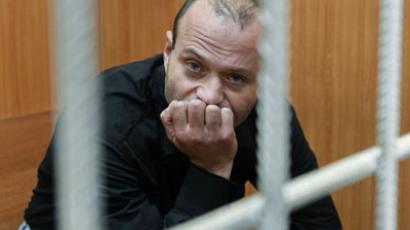 Retired Police Lieut. Col. Dmitry Pavlyuchenkov, suspected of organizing the murder of journalist Anna Politkovskaya, at Moscow's Basmanny court.(RIA Novosti / Andrey Stenin)