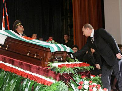 Putin pays last respects to Abkhaz president