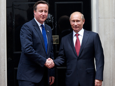 Putin and Cameron take gold medal for diplomacy in London