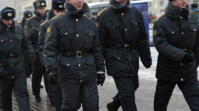 Police on patrol in Moscow, the Russian capital  (RIA Novosti / Vladimir Vyatkin)