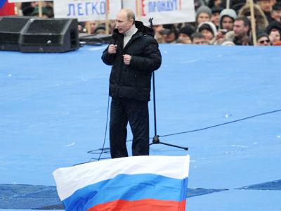 Putin calls for unity of 'winner nation'