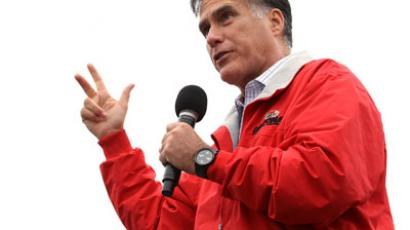 Republican presidential candidate and former Massachusetts Governor Mitt Romney.(AFP Photo / Alex Wong)