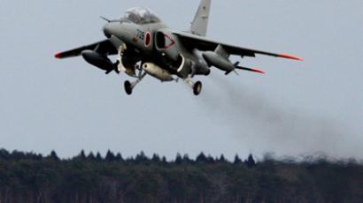 This handout picture taken by Japan's Defence Ministry on February 12, 2013 shows an Air Seld Defense Force's trainer aircraft taking off from the Misawa air base in Aomori prefecture, northern Japan on February 12, 2013 to take samples of air to detect radiation in the wake of North Korea's nuclear test. (AFP Photo)