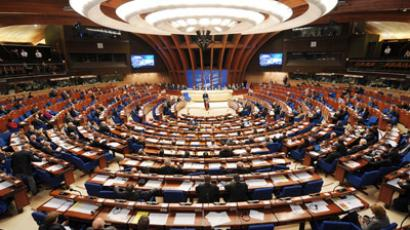 General view of the Council of Europe parliamentary assembly in Strasbourg (AFP Photo/Frederick  Florin)