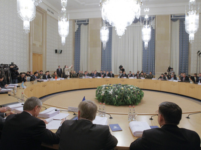 The meeting of the councils of foreign and defense ministers of the CSTO in Moscow, Вусуьиук 9, 2010 (RIA Novosti / Vitaliy Belousov)