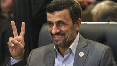 Iranian President Mahmoud Ahmadinejad.(AFP Photo / Gianluigi Guercia)