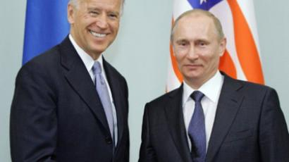 Prime Minister Vladimir Putin (R) and US Vice President Joe Biden at meeting in March, 2011 (AFP Photo / RIA-Novosti Pool / Alexey Druzhinin).