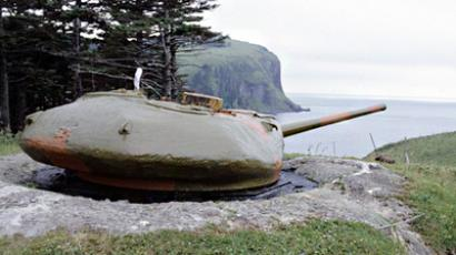 T-54 tank at Shikotan Island (Smaller Kuril Islands) (RIA Novosti / Alexandr Lyskin)