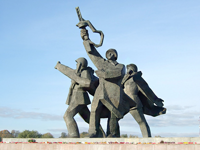 The Soviet Army, World War II Victory Monument in Riga