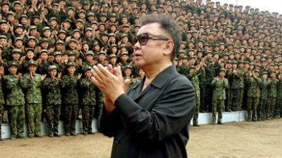 North Korean leader Kim Jong-Il and soldiers from the Korean People's Army Unit 1286 (AFP Photo / KCNA via KNS / Files)