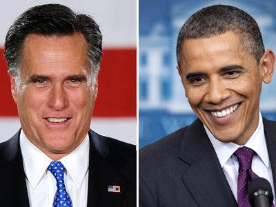 Republican nominee Mitt Romney(L) and the Democratic leader, President Barack Obama. (AFP Photo)