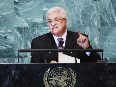 Palestinian Authority President Mahmoud Abbas delivers speech to United Nations General Assembly on September 23, 2011 in New York City (AFP Photo / Spencer Platt)