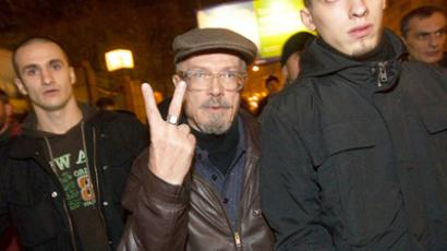 Eduard Limonov and his supporters (RIA Novosti / Mikhail Fomichev)