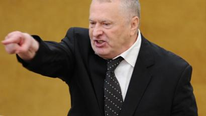 Vladimir Zhirinovsky, leader of the Liberal Democratic Party, takes issue with article by US Senators  (RIA Novosti / Vladimir Fedorenko)