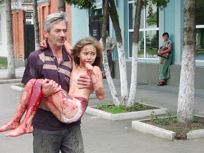 The authorities saved these hostages, who suffered during the terrorist act in Beslan, September, 2004 (RIA Novosti / Ramazan Lagkuev)
