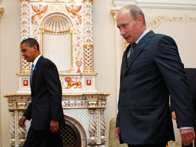 US President Barack Obama (L) and Russian President Vladimir Putin.(Reuters / Jim Young)