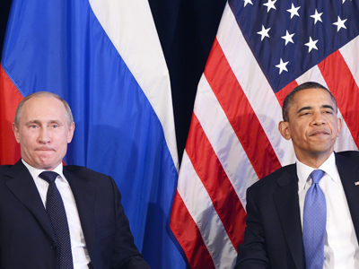 Barack Obama (R) and Vladimir Putin (AFP Photo / Jewel Samad)
