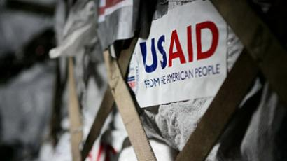 Relief supply from US Agency for International Development (USAID). (AFP Photo/Sergent Andres Alcaraz)