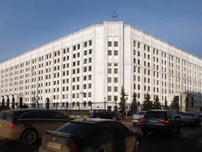The Russian Defense Ministry building in Arbatskaya Square in Moscow (RIA Novosti / Anton Denisov)