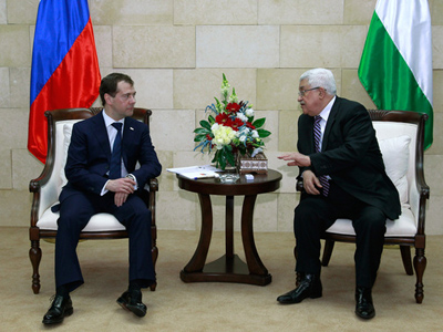 Russian President holds talks with Palestinian leader Abbas
