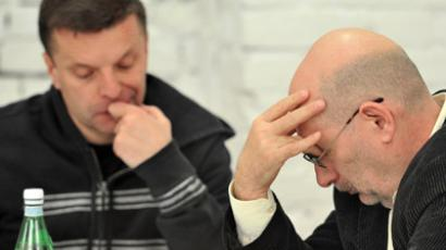 From left: Journalist Leonid Parfenov and writer Boris Akunin. RIA NOVOSTI / Vladimir Pesnya