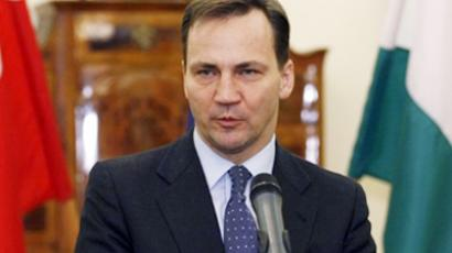 Polish Foreign Minister Radoslaw Sikorski (AFP Photo / Ferenc Isza)