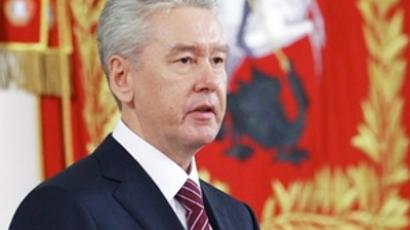 Moscow's newly elected Mayor Sergei Sobyanin delivers a speech during an inauguration ceremony in Moscow on October 21, 2010