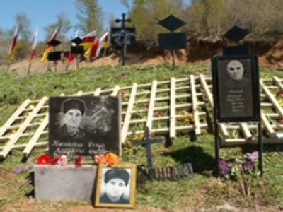 Tombs of victims of the 1991-92 South Ossetia War (photo from http://osgenocide.ru)