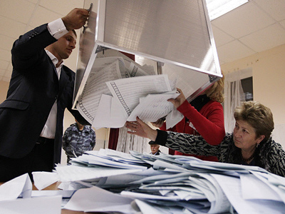 South Ossetia votes in presidential election. (RIA Novosti/Mikhail Mokrushin)