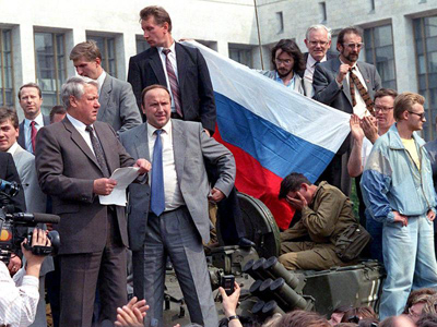 Twenty years after the Soviet coup, Russia takes a hard look in the mirror