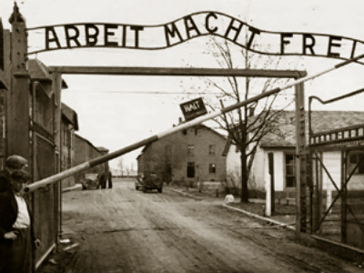 Stolen Auschwitz sign found in Poland