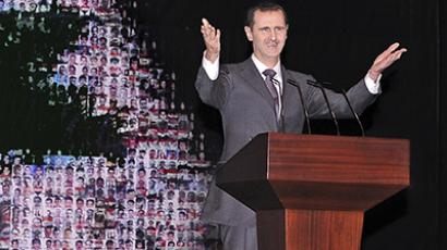 Syria's President Bashar al-Assad speaks at the Opera House in Damascus January 6, 2013 (Reuters / Sana)