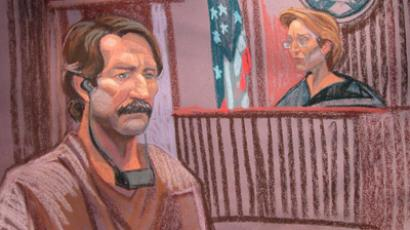 This courtroom sketch shows Viktor Bout(L) at Federal court with Judge Shira Scheindlin on November 17, 2010 in New York (AFP Photo/Christine Cornell)